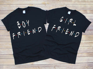 Boyfriend Girlfriend  Couple Shirts Relationship Shirts Couple Shirts Valentines Day Shirts Boy Shirts