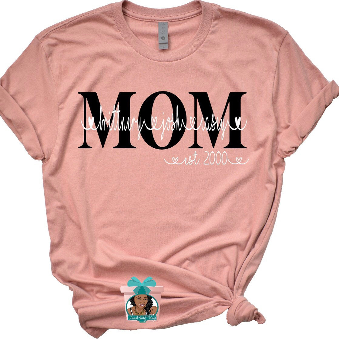 Mom Personalized T-Shirt Mothers Day T-Shirt Grandma Personalized T-Shirt