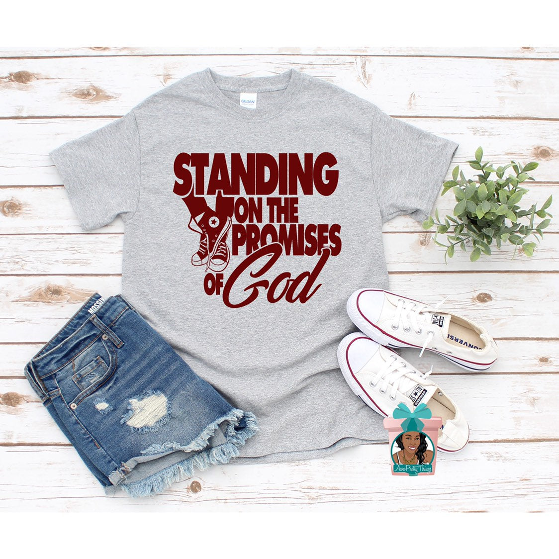 Standing On Gods Promises T-Shirt Religious T-Shirt Christuan Shirt