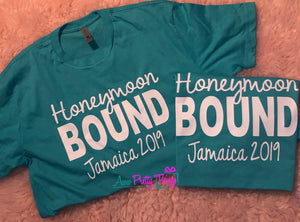 Honeymoon Bound Shirts Couples Shirts Just Married T-Shirts Destinstion Shirts