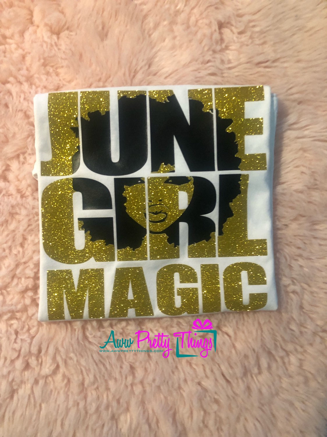 June Girl Magic Birthday Shirt Ladies Birthday June Birthday Black Girl Magic