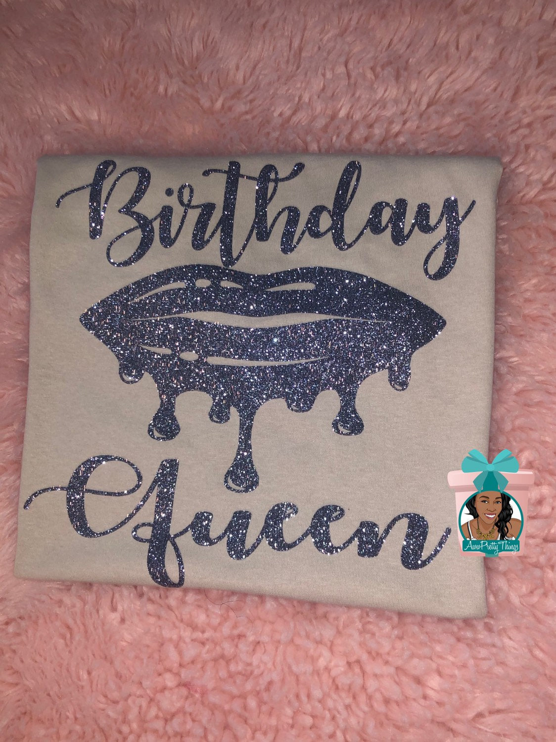 Birthday Queen Dripping Lips Shirt Drip Birtbday Shirt Queen Birthday