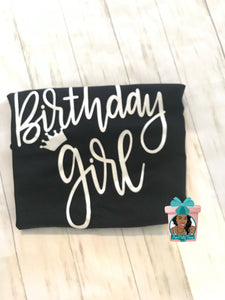 Birthday Queen T-Shirt Birthday Girl Shirt Birthday Its A Queen Birthday Birthday Shirt