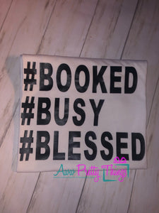 Booked Busy Blessed Shirt Entrepreneur Shirt Booked and Busy Book Online