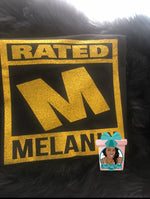 Load image into Gallery viewer, Rated M Melanin Melanin Rated Dripping In Melanin Melanin Shirt Melanin Girl Shirt Black Girl Magic Shirt