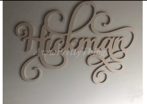 Personalized Name Woodcut
