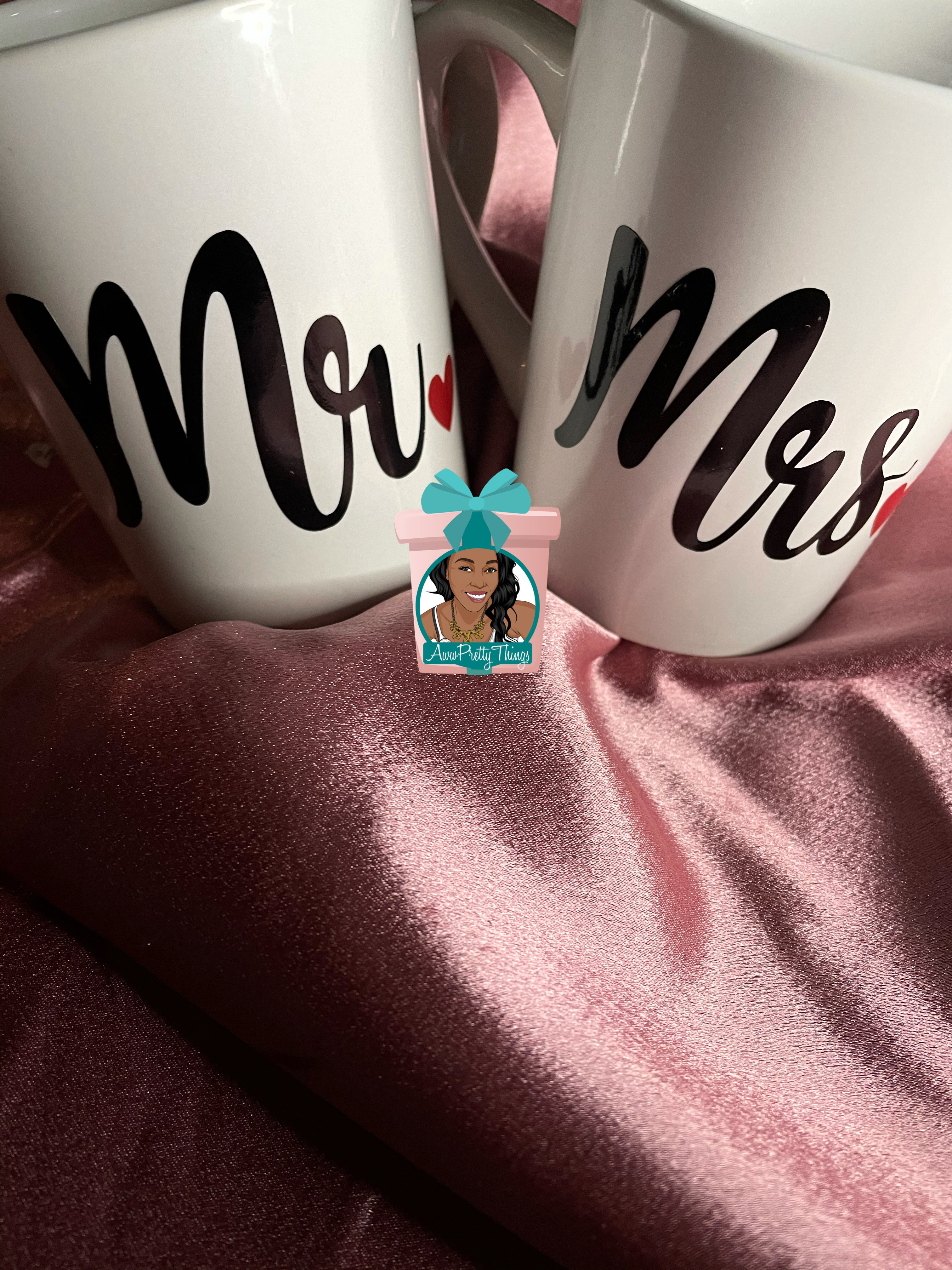 Mr. & Mrs.  Coffee Set