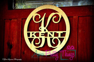Name Initial Wooden Door Hanger