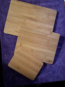 3 Piece Bamboo Engraved Cutting Board