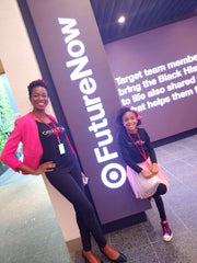 8 year old CEO Zoe and Mom at Target HQ Feb 2020