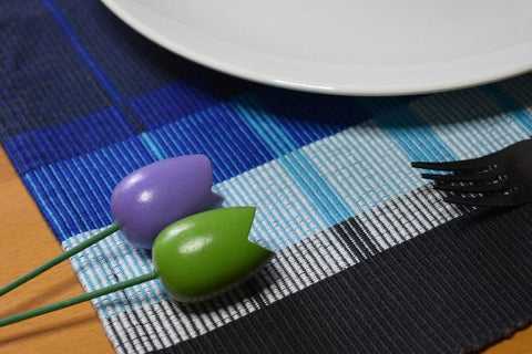 Rep placemats with tulips 8/2 cotton