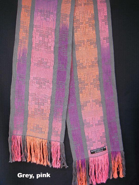 Crackle weave scarves
