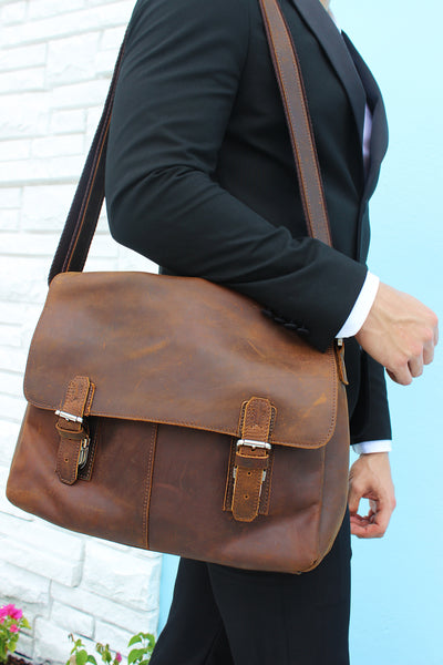 The Well-Informed Travelers Messenger Bag - Mustache Trading