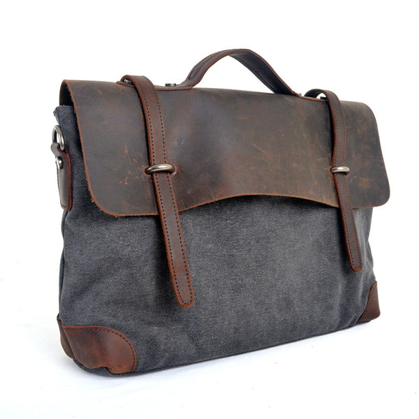 Retro Canvas Messenger Bag - Mustache Trading