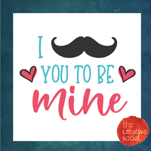 Mustache you to be mine DIY Kit