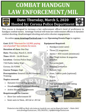 2020/03/05 - Combat Handgun for LE/Mil - Corona, CA