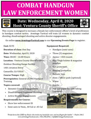 2020/04/08 - Combat Handgun for LE Women - Camarillo, CA