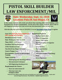 2018/09/12 - Pistol Skill Builder for Law Enforcement - Pala (North San Diego), CA - Armitage Tactical