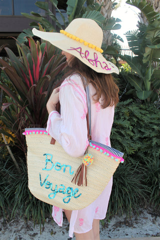 Bon Voyage Tote Bag Honeymoon Hats
