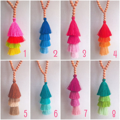 Tiki Bar Tassel Necklace