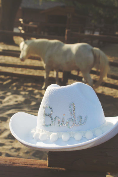 Custom Cowboy Honeymoon Hat™/Mrs. Bride Hat