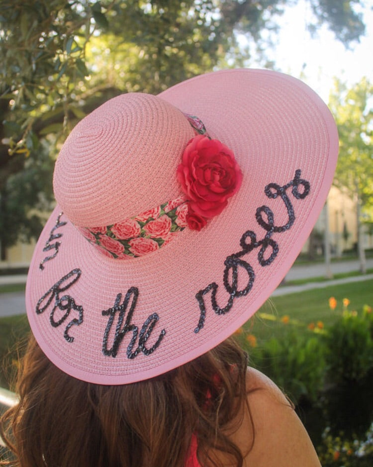 ... Kentucky Derby Run for the Roses Honeymoon Hat™ and Straw Clutch Bag  Discount Package ... 8fca7c776ede