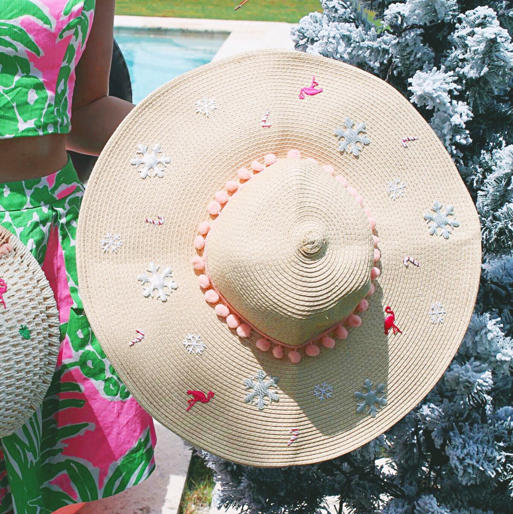 Deck the Palms Getaway Glam Honeymoon Hat