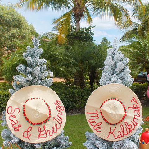 Mele Kalikimaka Honeymoon Hat