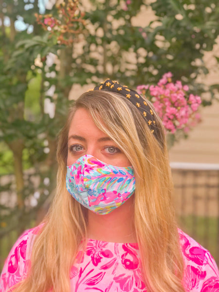 Lilly- Non-Medical Fashion Reversible Elastic Face Mask- Women & Teen Size