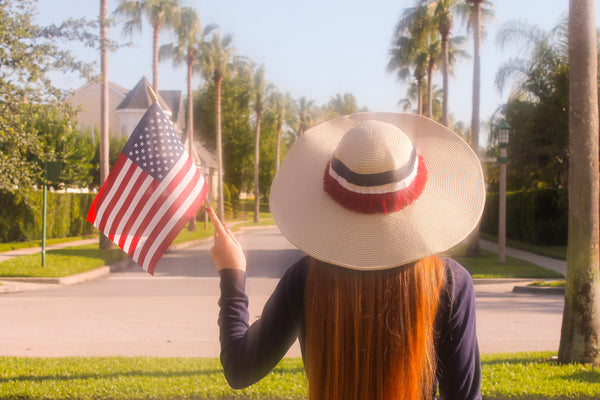 Red White & Blue Fringe Honeymoon Hat™