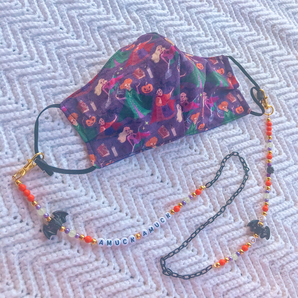 Hocus Pocus Halloween Fashion Mask Chain Lanyard