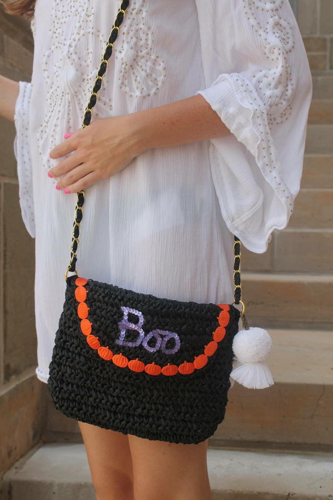 Boo Halloween Witch Crossbody Bag