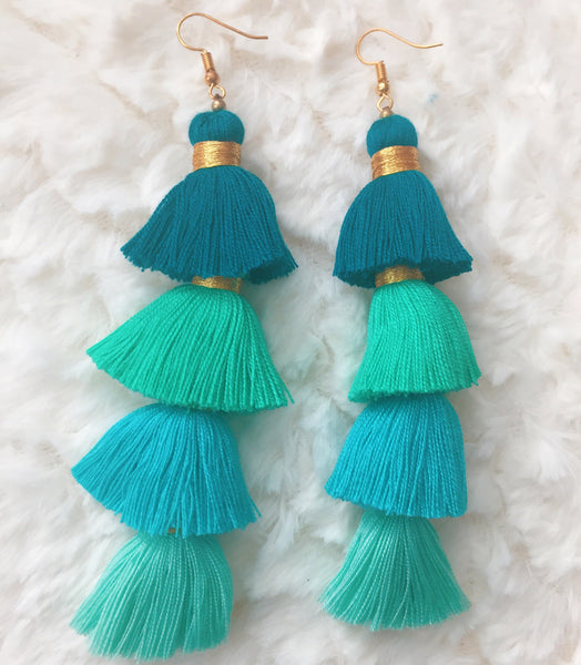 Handmade Ombre Tassel Earrings