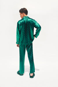 Men's Cassius Silk Jacquard Pajamas
