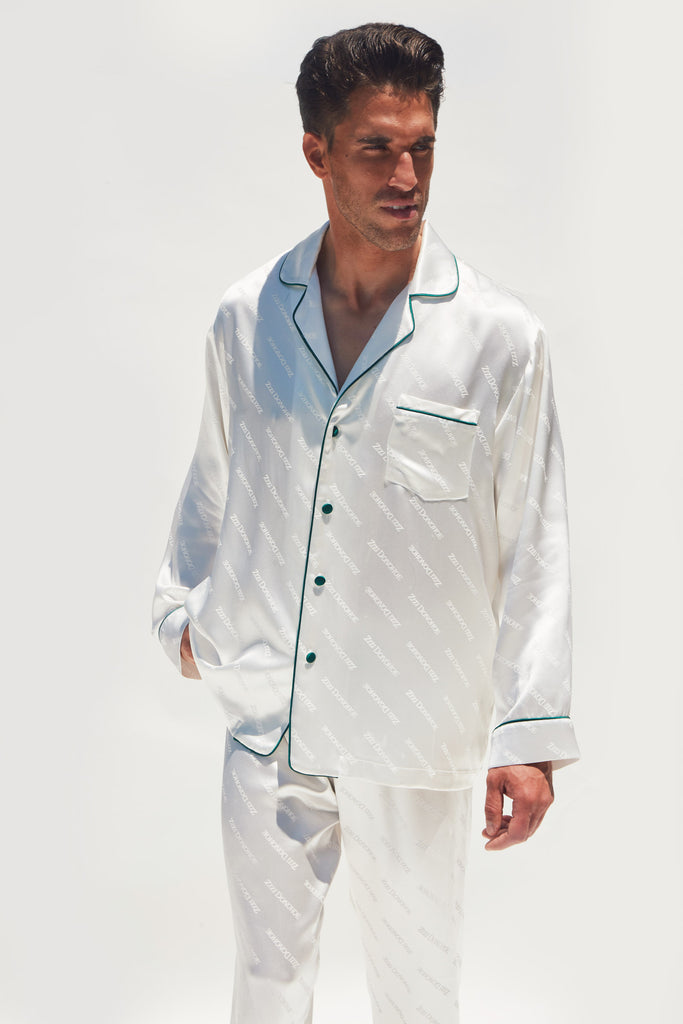 MEN'SPEARLSILKJACQUARDPAJAMAS