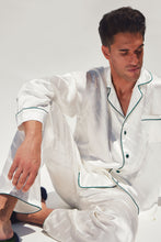 Load image into Gallery viewer, Men's Pearl Silk Jacquard Pajamas