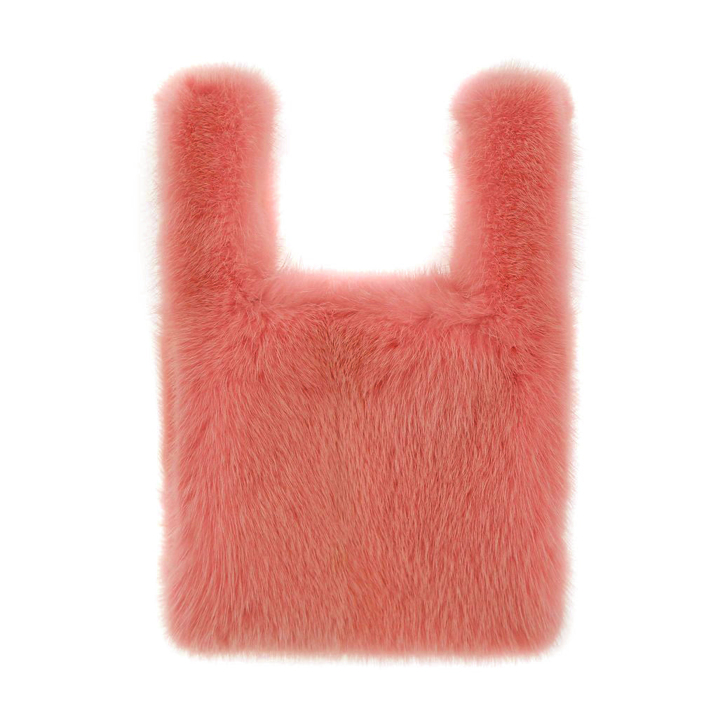 Mini Mink Shopper in Salmon