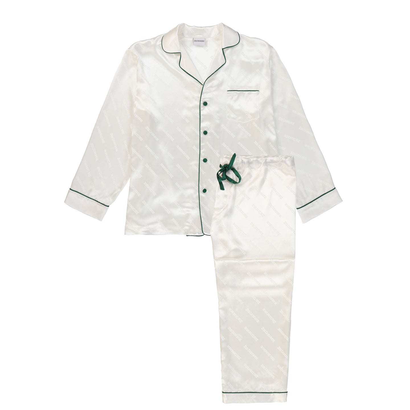Men's Pearl Silk Jacquard Pajamas