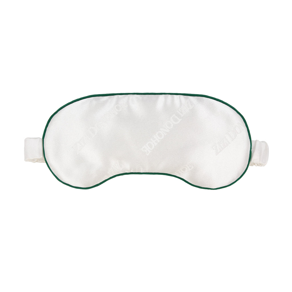 Pearl Jacquard Silk Sleep Mask