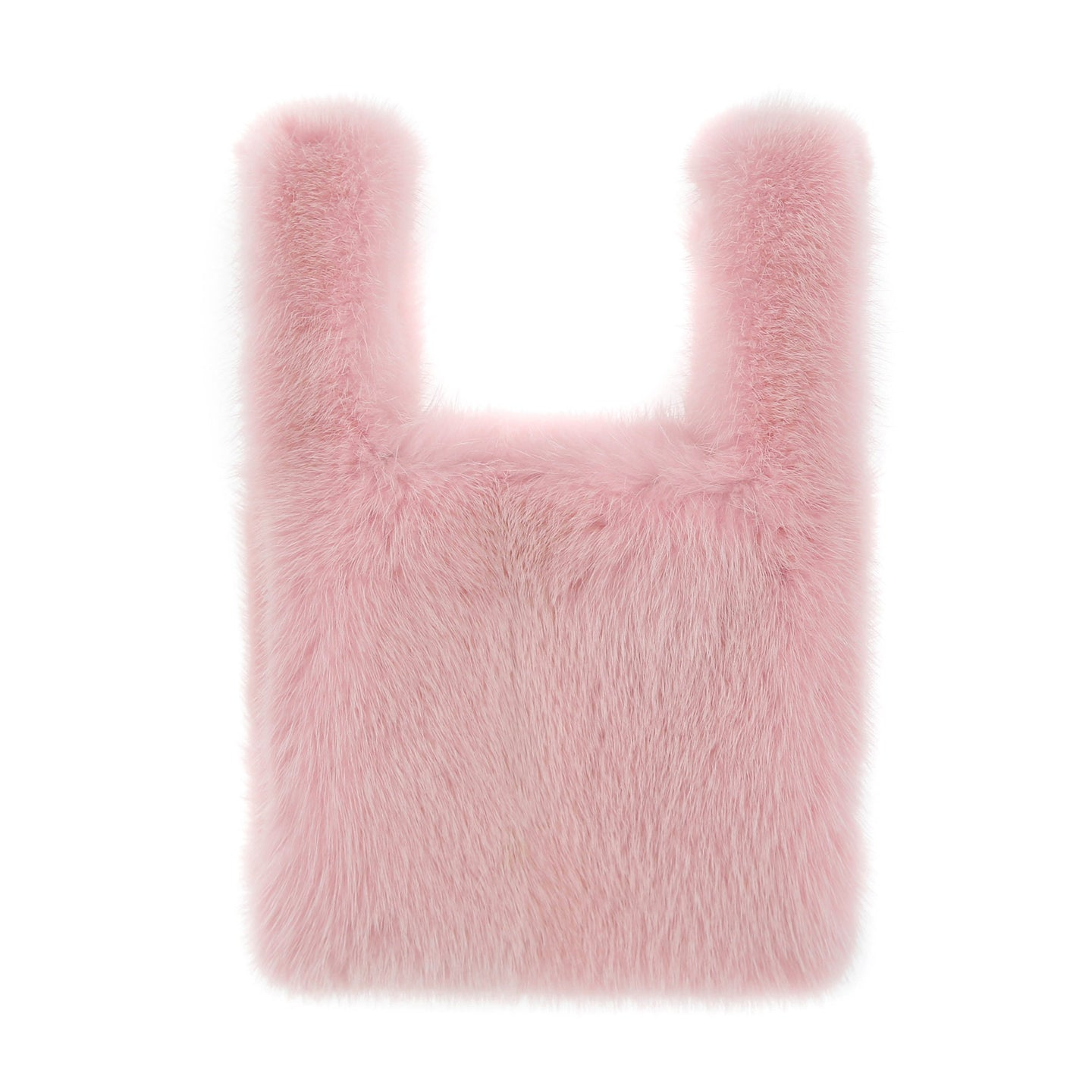 Mini Mink Shopper in Light Pink