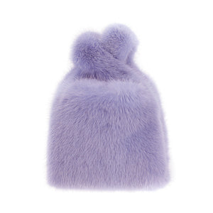 Mini Mink Shopper in Lilac