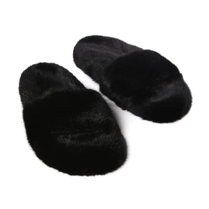 Quentin | Black Mink Slides