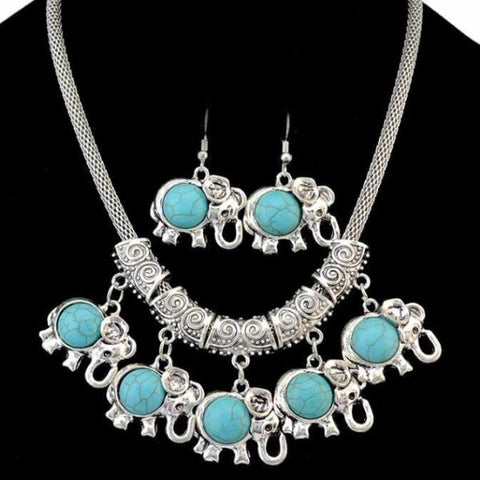 Bohemia Turkish Natural Turquoise Rhinestone Choker- 2 Different Designs - SilkRoads Online