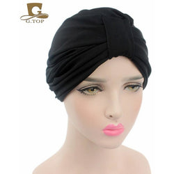 New Fashion Women stretchy cotton turban dome cap head wrap Hijab Hair Loss Cancer Head Scarves Chemotherapy Alopecia Caps - SilkRoads Online