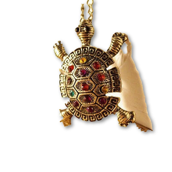 Free Shipping - European and American Retro Jewelry Cute Tortoise Sweater Chain Necklace Hot Selling