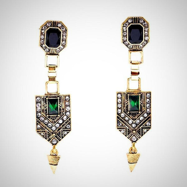 Vintage Elegant Luxury Earrings Geometric Design For Women