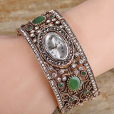 Free Shipping - Turkish Jewelry Watch Braelets For Women Antique Gold Plated - SilkRoads Online