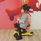 3 in1 Children scooter with adjustable height handle and light up wheels - SilkRoads Online