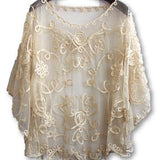 High quality Summer Loose Stylish Lace Blouse For Day / Evening - SilkRoads Online
