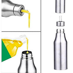 750ML Stainless Steel Leak-proof Oiler jar Oil Vinegar Bottle Free Shipping - SilkRoads Online